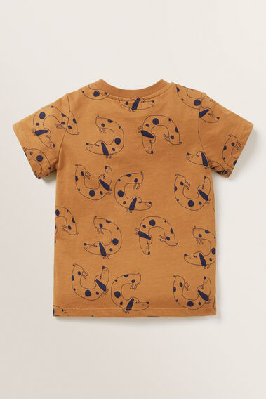 Dog Print Tee  NUTMEG  hi-res