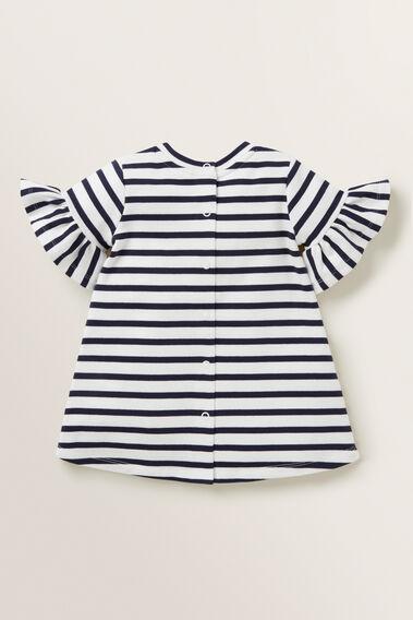 Stripe Jersey Dress  NAVY  hi-res