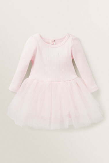 Ombre Rib Tutu Dress  ICE PINK  hi-res