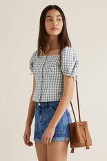 Woven Bucket Bag  TAN  hi-res