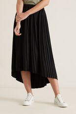 Hi-Lo Pleated Skirt  BLACK  hi-res