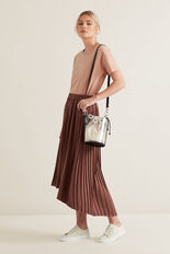 Hi-Lo Pleated Skirt  WASHED ROSE  hi-res