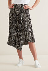 Asymmetric Pleat Skirt  MULTI  hi-res