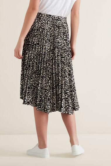 Asymmetric Pleat Skirt  MULTI  hi-res