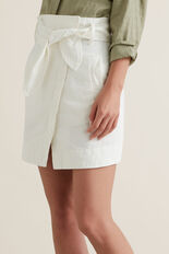Paperbag Tie Skirt  CLOUD CREAM  hi-res