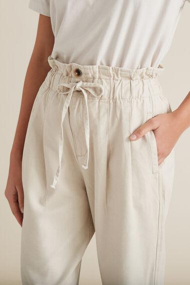 Paper Bag Casual Pant  TEXTURED DESERT  hi-res