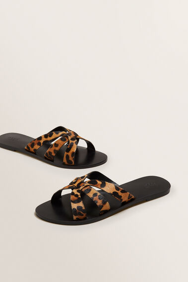 Emma Leather Slide  OCELOT  hi-res
