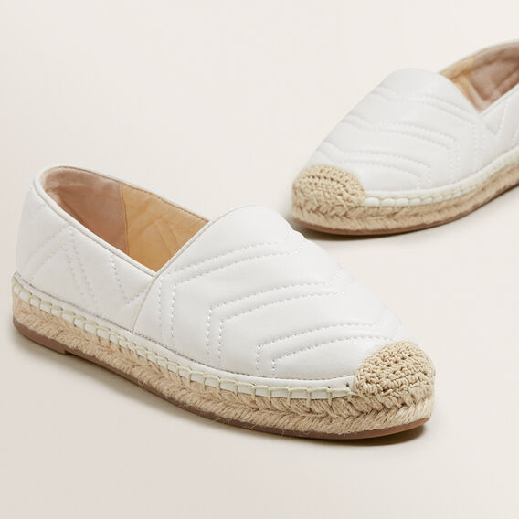 Frida Leather Espadrille  CLOUD CREAM  hi-res