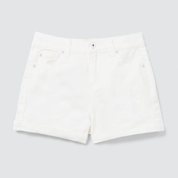 Denim Shorts  WHITE  hi-res