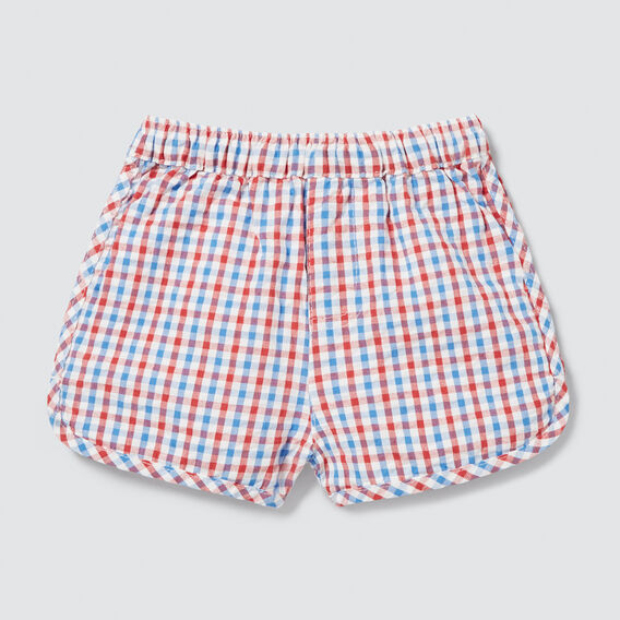 Seersucker Runner Short  CHECK  hi-res