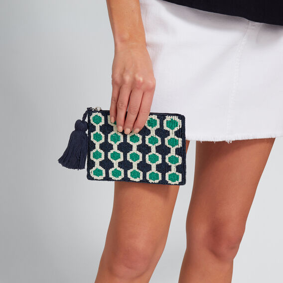 Phoebe Beaded Pouch  NAVY MULTI  hi-res