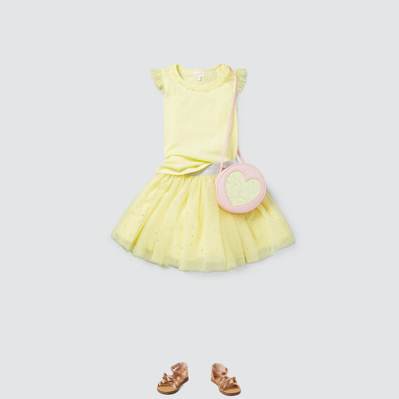 Tulle Trim Tank  LEMON SORBET  hi-res