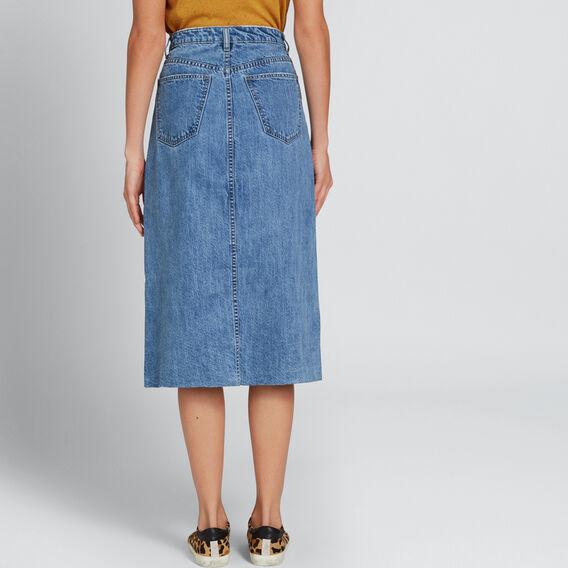 Longline Denim Skirt  CLASSIC DENIM  hi-res