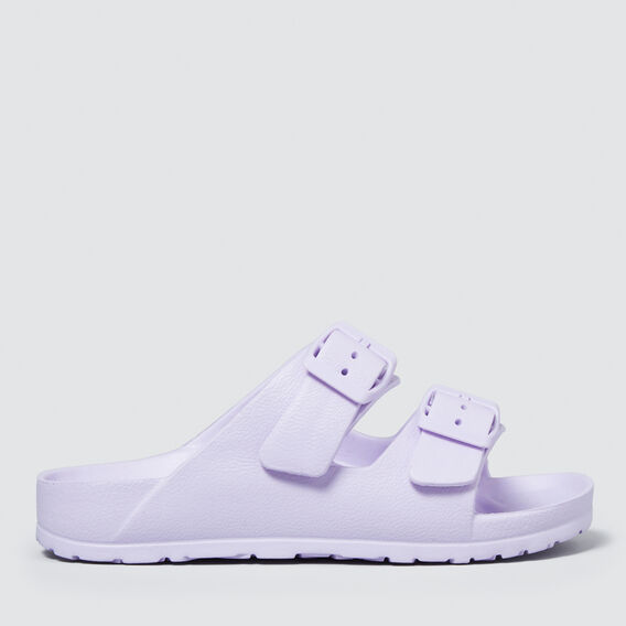 Double Buckle Slides  LILAC  hi-res