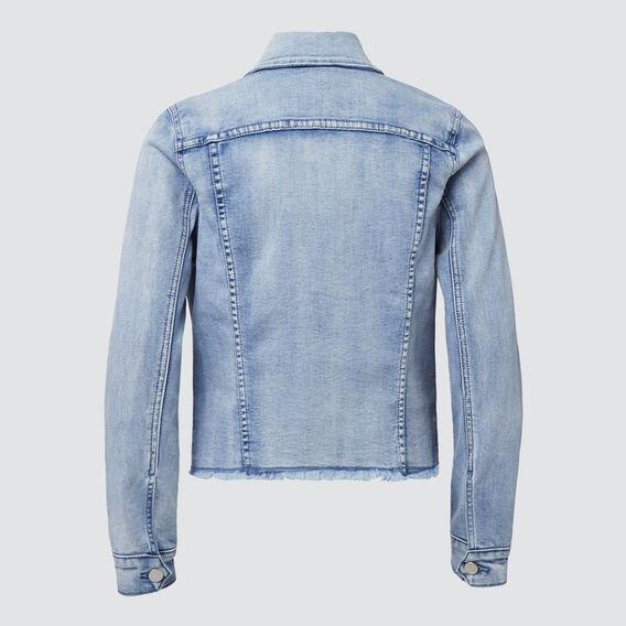 Distressed Denim Jacket  PALE BLUE WASH  hi-res