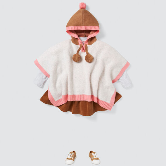 Colour Block Poncho  CLOUD  hi-res