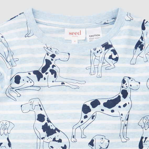 Dog Yardage Pyjamas  SLEEPY BLUE MARLE  hi-res