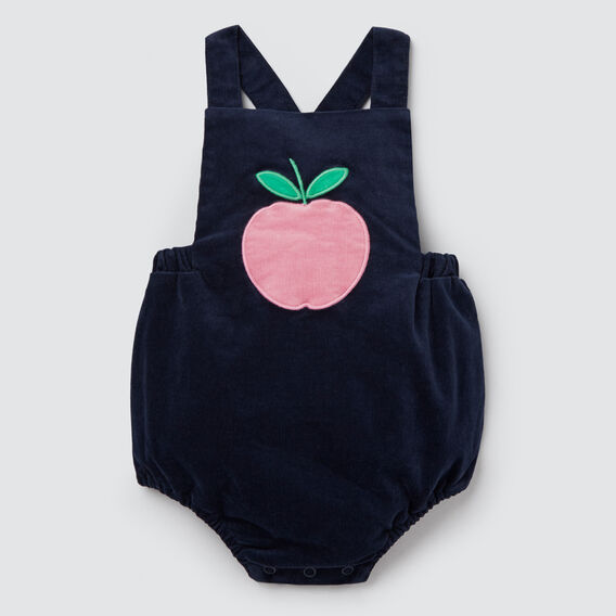 Apple Pocket Romper  NAVY  hi-res