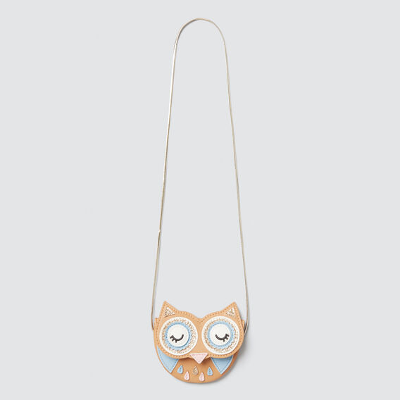 Owl Flap Purse  LIGHT TAN  hi-res
