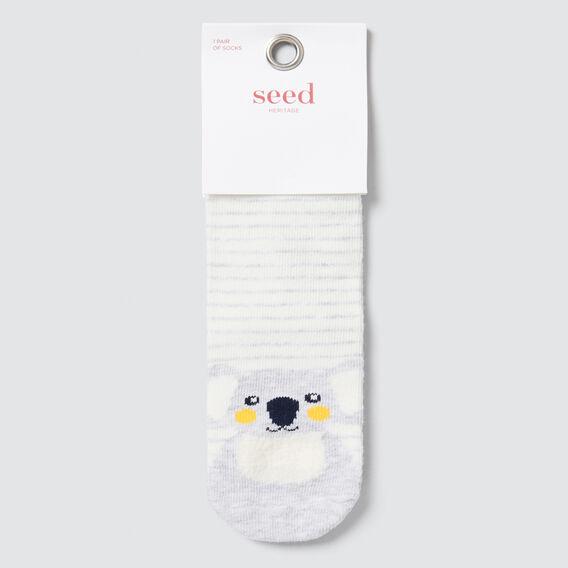 Koala Socks  GREY MARLE  hi-res