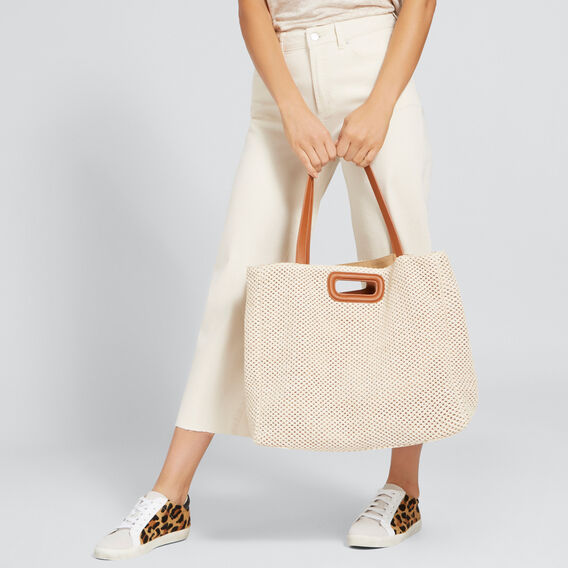 Jules Double Handle Tote  NATURAL/ TAN  hi-res