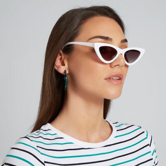 Belle Fashion Cat Eye Sunglasses  WHITE  hi-res