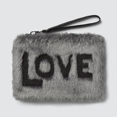 Faux Fur Clutch  GREY  hi-res