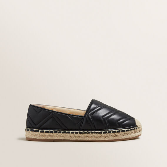 Frida Leather Espadrille  BLACK  hi-res