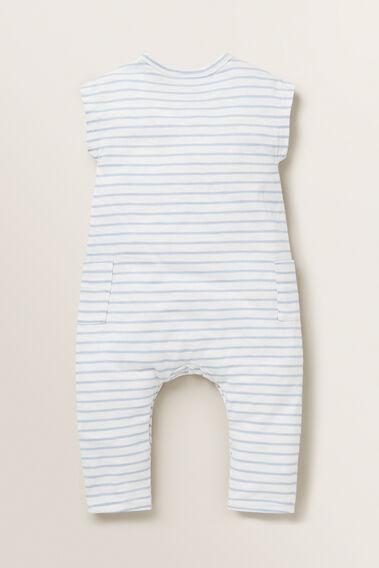 Slouchy Stripe Jumpsuit  POWDER BLUE  hi-res