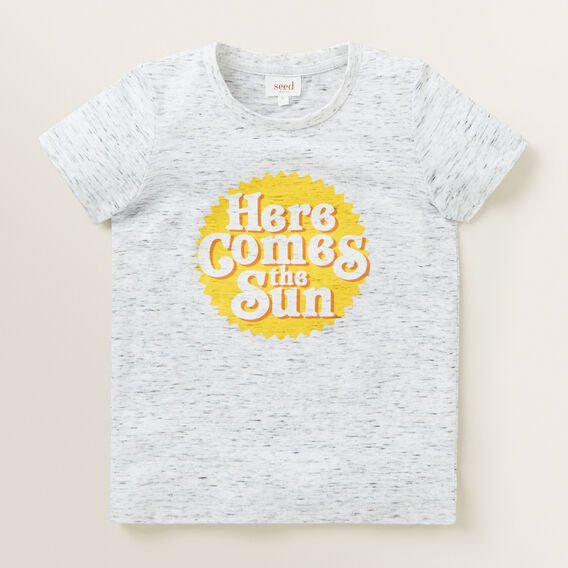 Here Comes The Sun Tee  VINTAGE WHITE MARLE  hi-res