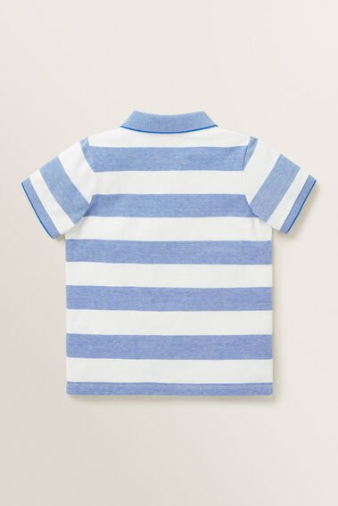 Stripe Polo  BRIGHT COBALT  hi-res