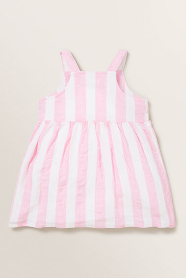Stripe Linen Pinafore  PINK BLUSH/WHITE  hi-res