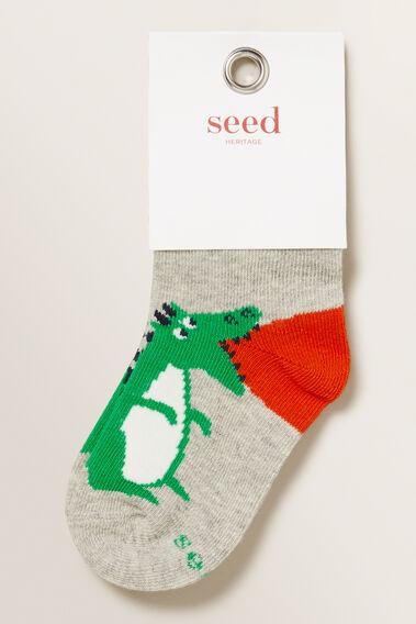 Dragon Socks  GREY MARLE  hi-res