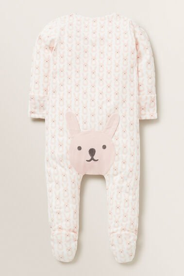 Bunny Bum Zipsuit (Available in size 00000)  APRICOT  hi-res