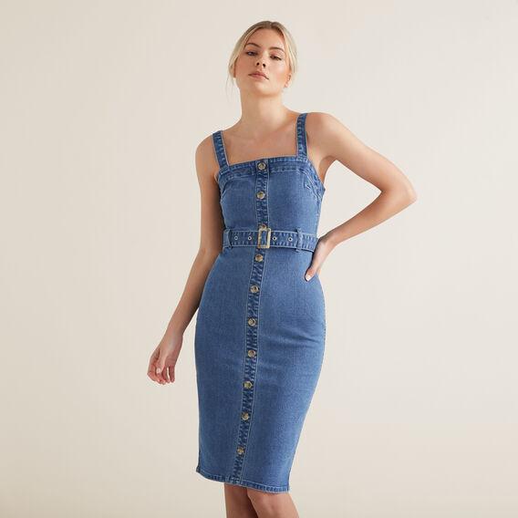 Belted Denim Dress  CLASSIC DENIM  hi-res