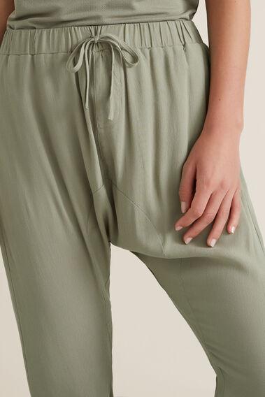 Woven Harem Pant  WASHED OLIVE  hi-res
