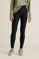 Flock Legging  BLACK  hi-res