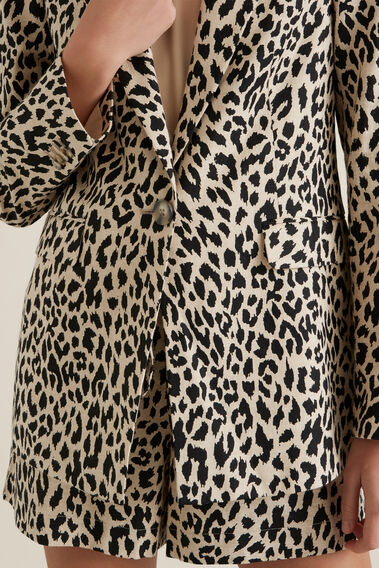 Animal Print Blazer  OCELOT  hi-res