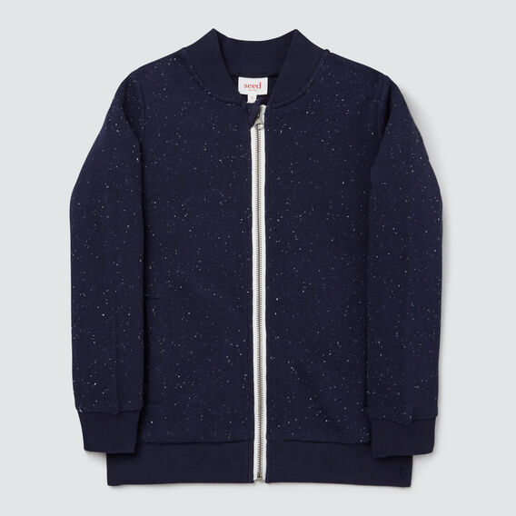 Zip Up Sweater  MIDNIGHT SPECKLE  hi-res