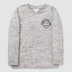 Have A Good One Tee  GREY SPACE DYE  hi-res