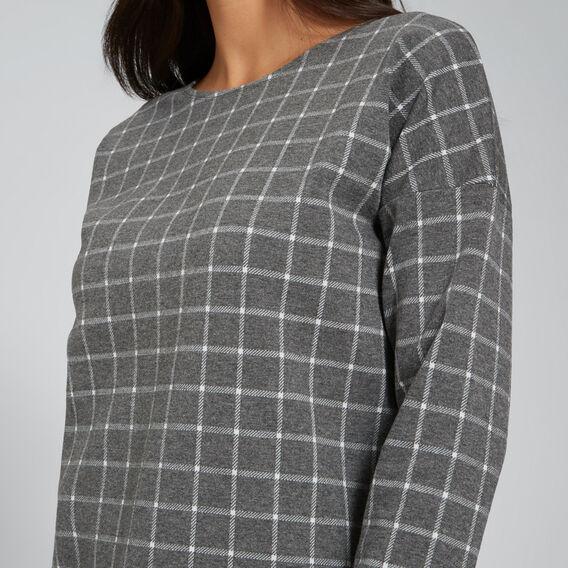 Check 3/4 Sleeve Top  CHECK  hi-res