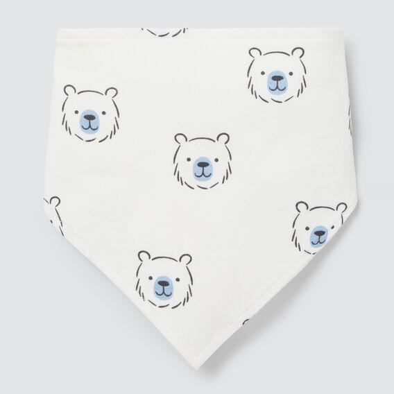 Bear Yardage Bandana Bib  CANVAS  hi-res