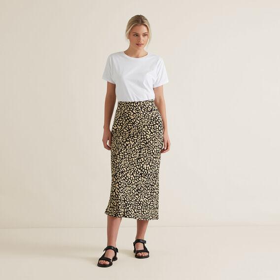 Animal Print Skirt  OCELOT  hi-res