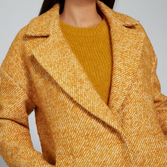 Boucle Coat  GOLDEN MUSTARD  hi-res