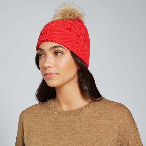Simple Rib Beanie  RED  hi-res