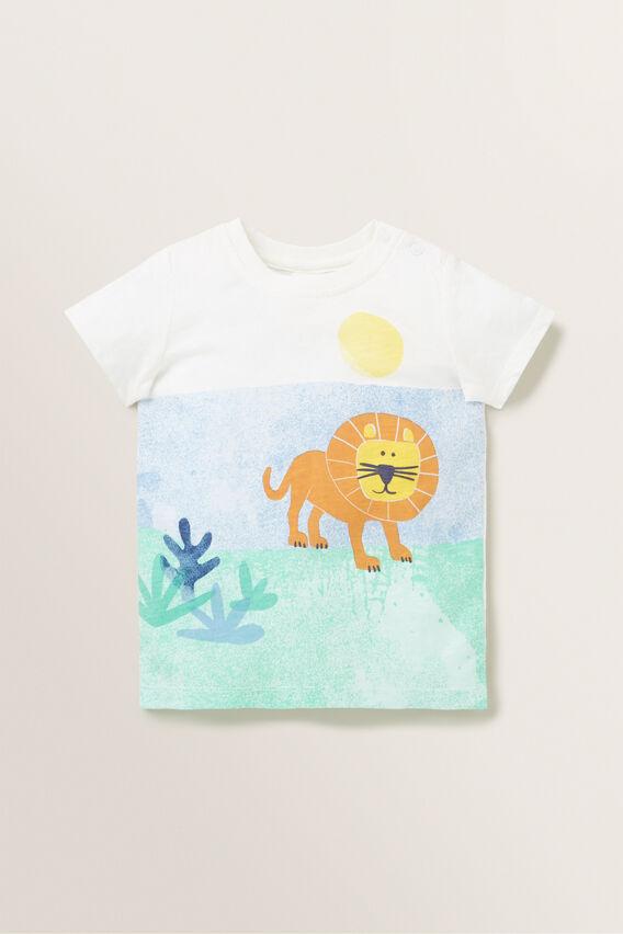 Lion Print Tee  VINTAGE WHITE  hi-res