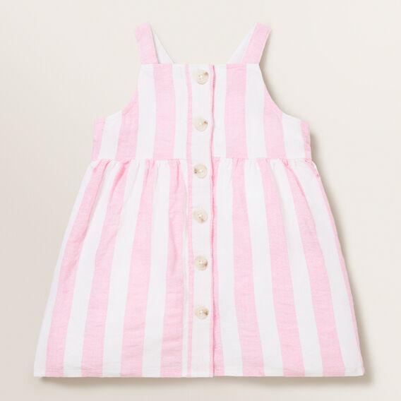 Stripe Linen Pinafore  PINK BLUSH/WHITE  hi-res