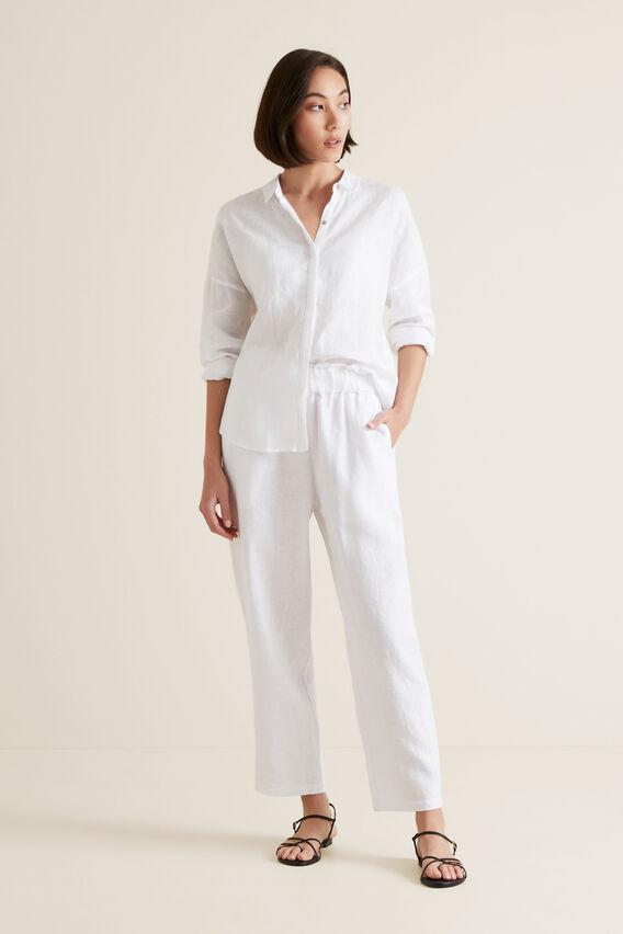 Classic Linen Shirt  WHISPER WHITE  hi-res