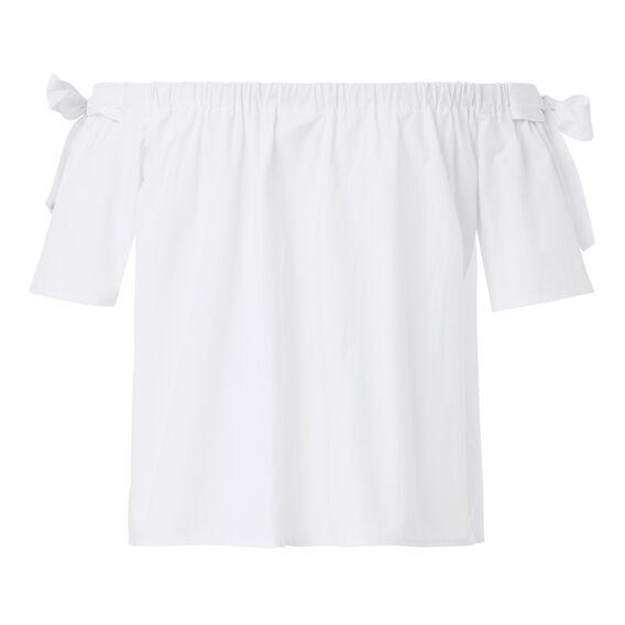 Tie Off Shoulder Top  WHITE  hi-res