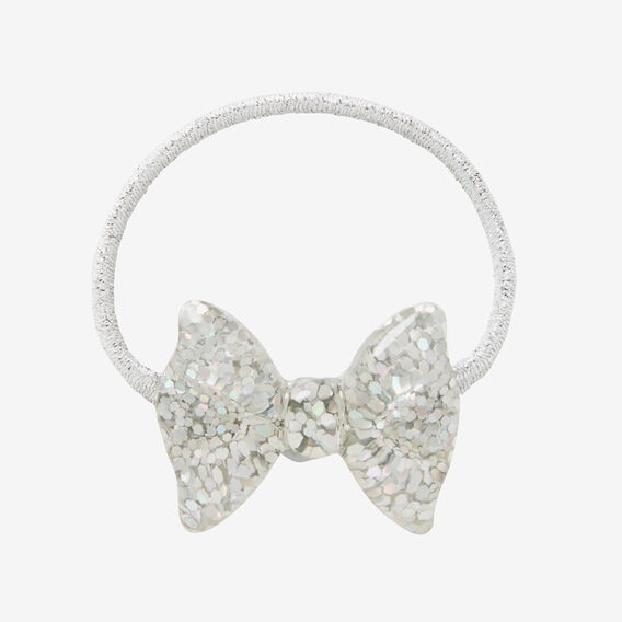 Sparkle Bow Hair Elastic  SILVER  hi-res